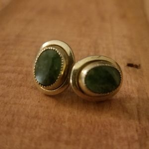 Vintage Sarah Coventry Green Stone Earrings